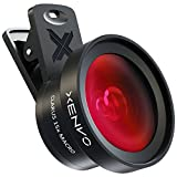 Photo : Xenvo iPhone Camera Lens Kit Pro - Macro Lens & Wide Angle Lens with LED Light, Clip-On Cell Phone Camera Lenses for iPhone, Android, Samsung Mobile Phones and Tablets
