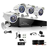 Funlux 8CH 960H QR Code Easy Setup Video Security Camera System 4 Outdoor Weatherproof 700TVL High Resolution Day/Night IR-Cut Built-in CCTV Surveillance Cameras