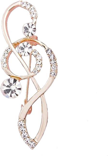 Fablcrew lucido note musicali spilla da sposa spilla pin