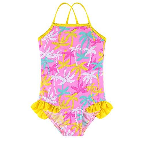 BAOHULU Girls Swimsuit One Piece Swimwear Bathing Suits Strap Style Beachwear