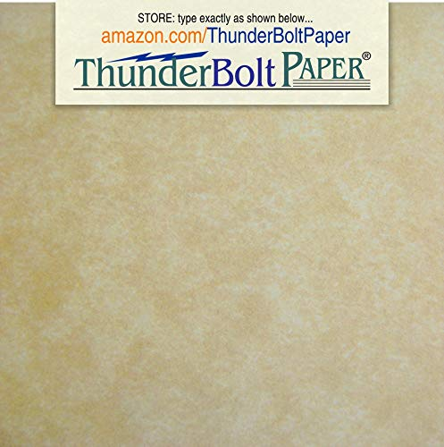 (50 Old Age Parchment 65lb Cover Paper Sheets 4 X 4 Inches Cardstock Weight Colored Sheets 4