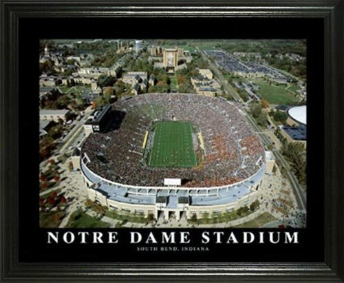 Notre Dame Fighting Irish - Notre Dame Stadium Aerial - Lg - Framed Poster Print