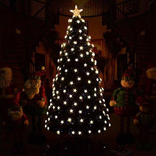 JIN Led Llevó El áRbol De Navidad Decoraciones De Navidad áRbol De Fibra óPtica De 1.2 M áRbol De Navidad De Lujo , Star...