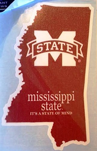 Mississippi State It's a State of Mind Car Decal - MSU Bulldogs Auto Window Sticker ()