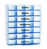 Survive Vitamins 7 Day Pill Organizer 4 Times a Day Pill Box in Translucent Blue Color Pill Case