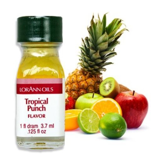Tropical Punch (Passion Fruit) Flavor - 2 Dram Pack - LorAnn Oils - Includes a Recipe - Punch Flavor Tropical