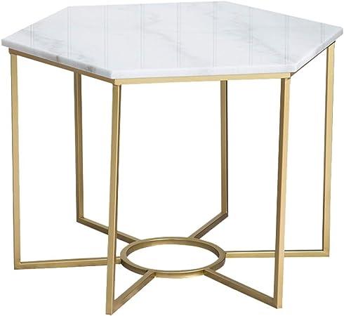 Mesa de Centro/Mesa Auxiliar, Mesa de mármol, Marco de Hierro ...