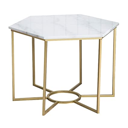 Amazon Com Living Room Coffee Table Side Table Marble Table Top