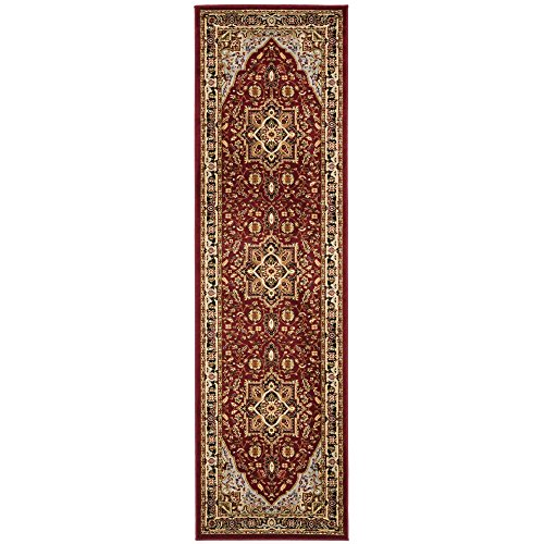 3 X 6 Runner (Safavieh Lyndhurst Collection LNH330B Traditional Oriental Medallion Red and Black Runner (2'3