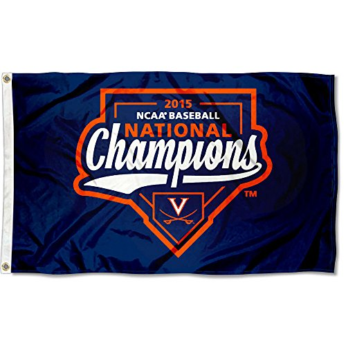 UVA 2015 College World Series Champs Flag
