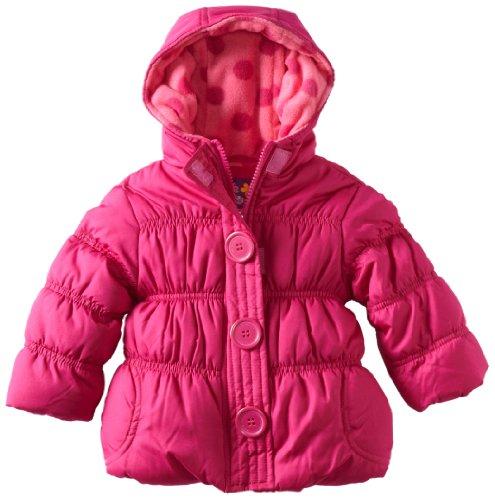Pink Platinum Baby Girls' Promo Puffer Rouched Jacket