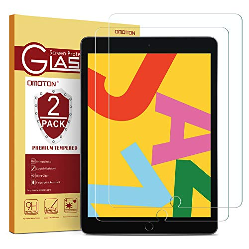 [2 Pack] OMOTON Screen Protector for iPad 7th Generation (10.2 Inch