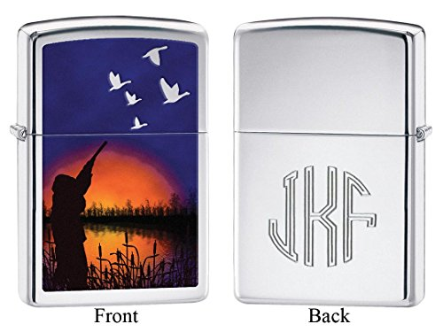 Personalized Duck Hunting Windproof Zippo Lighter with Free Monogram