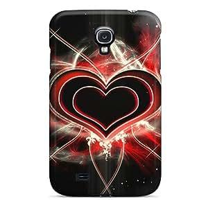 New DVvWxHC5974BAAhz Red Heart Skin Case Cover Shatterproof Case For Galaxy S4