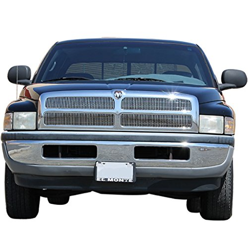 EAG Vertical Bar Style Billet Grille Replacement for 94-01 Dodge Ram ()