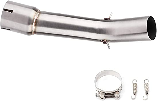 Motorcycle Exhaust Muffler Pipe Exhaust Middle Link Pipe Muffler for Yamaha FZ1 FZ1-N 06-15