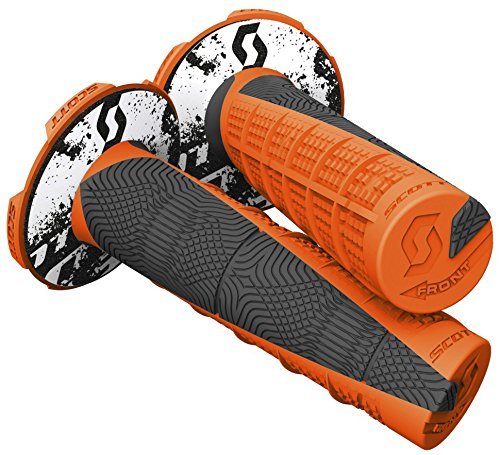 Scott Deuce Off-Road Motorcycle Hand Grips - Neon Orange/Black/One ()