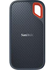 Sandisk Extreme Portable SSD, SDSSDE60 1TB, USB 3.1, Type C and Type A Compatible, Speeds up to 550MB/s, IP55 Dust-Water Resistance, 3Y, Black (SDSSDE60-1T00)