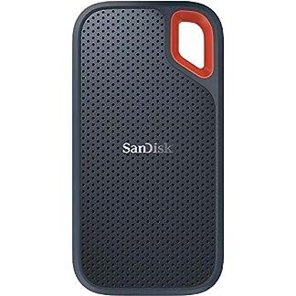 SanDisk Extreme Portable SSD externe Festplatte 1TB (SSD extern 2,5 Zoll, 550 MB/s Übertragungsraten, stoßfest, AES-Verschlüsselung,wasser- und staubfest) grau 1