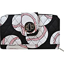 Sport Themed Prints NGIL Quilted Twist Lock Wallets