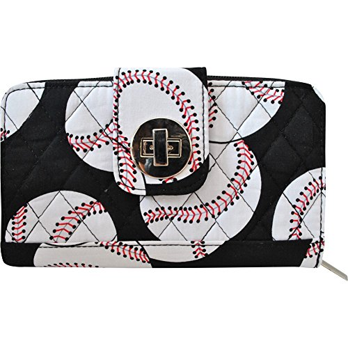 Baseball Print Quilted...