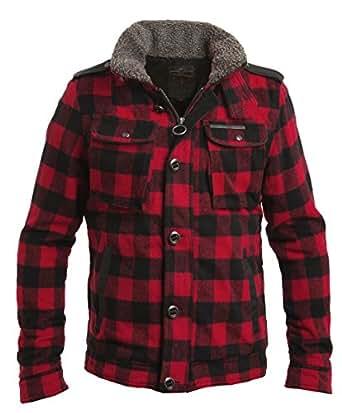Camisa de leñador acolchada y con forro de sherpa, de
