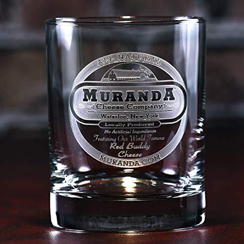 YOUR LOGO carved on 4 whiskey, bourbon, scotch, DOF glasses (Set of 4)