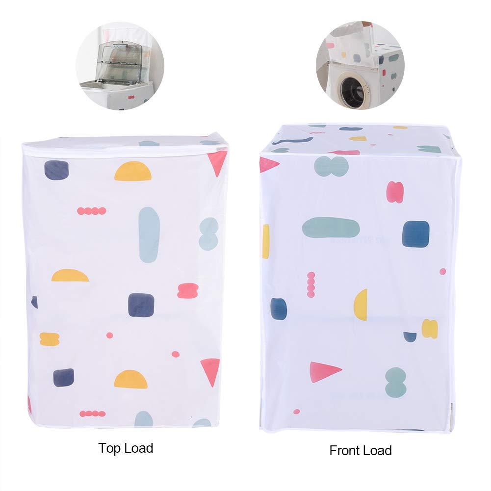 Carga Frontal protecci/ón contra el Polvo para la Parte Superior//Lavadora de Carga Frontal Secadora Cubierta Lavable Cremallera
