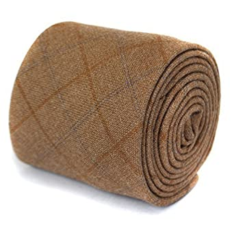 d127556e58d9 Frederick Thomas light brown tweed wool tie: Amazon.co.uk: Clothing