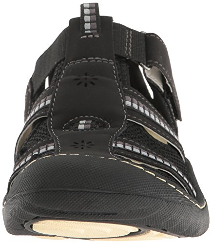 Jsport By Jambu Womens Regatta Flat Nero / Bianco Microbuck / Mesh