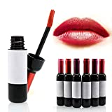 Vinmax 6 Colors Wine Lip Stain,Liquid Lipstick,Lip Tint,Waterproof 6pcs/kit
