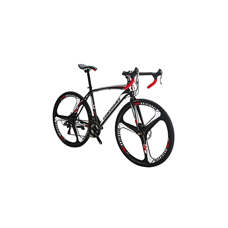 EUROBIKE Road Bike EURXC550 21 Speed 49 cm Frame 700C Wheels Road Bicycle Dual Disc Brake Bicycle