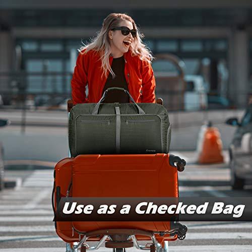 Gonex 60L Foldable Travel Duffel Bag Water & Tear Resistant, Dark Green