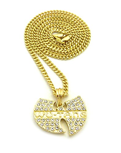 [Hip Hop Iced Out Wu Tang Pendant 24
