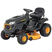 "Poulan Pro 960420181 15.5 hp 6-Speed Lever Riding Tractor Mower, 42"" by Poulan Pro"