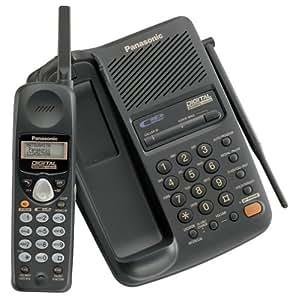 panasonic kx tc1713b 900 mhz digital cordless speakerphone with caller id black. Black Bedroom Furniture Sets. Home Design Ideas