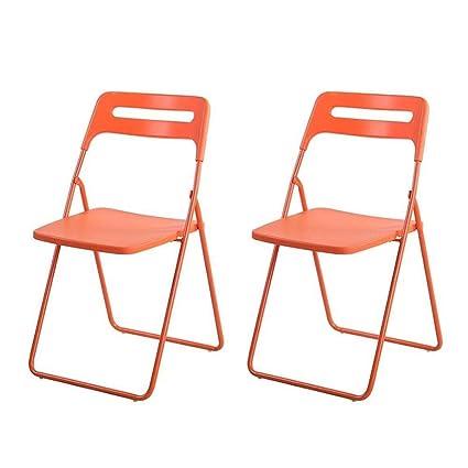 FENGFAN Juego de sillas Plegables de plástico de 2 ...
