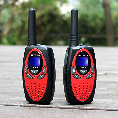 Retevis RT628 Kids Walkie Talkies 22 Channel FRS Toy for Kids UHF 462.550- 467.7125MHz 2 Way Radio Toy(Red,2 Pack)
