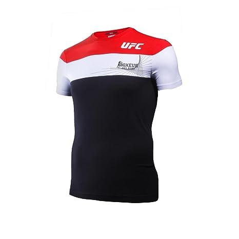 BOXEUR DES RUES Fight Activewear Serie, Camiseta con Logotipo UFC Hombre, Hombre, BX