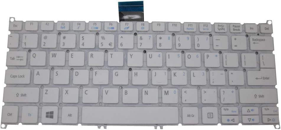 Laptop Keyboard for ACER Aspire V5-122P V3-111P V3-112P V5-132 V5-132P V3-371 V3-331 English US PRIDE-K2181 MB270-2-US White Without Frame