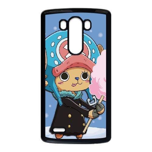 LG G3 Case,Popular Anime One Piece - Cute Tony Tony Chopper Pattern Durable Hard Plastic Scratch-Proof Protective Case,Black - Rhinestone Chopper