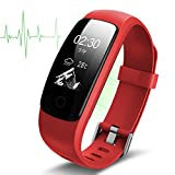 Diggro ID107 PLUS Smart Fitness Bracelet Real-time Heart Rate Monitor IP67 Waterproof GPS Activity Tracker Auto Sleep Monitor OLED Screen Multi-sport Mode Guided Breathing for Android&iOS