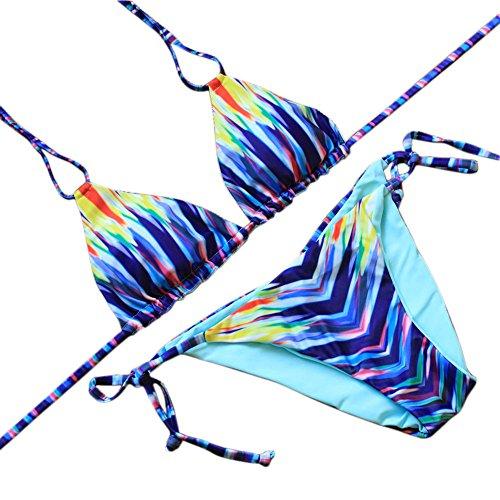 JIANLANPTT Floral Self Tie Strappy Brazilian product image