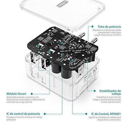 Cargador Portátil usb con 2 o 4 puertos