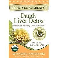Lifestyle Awareness Teas Caffeine Free Tea, Dandy Liver Detox, 6 Count