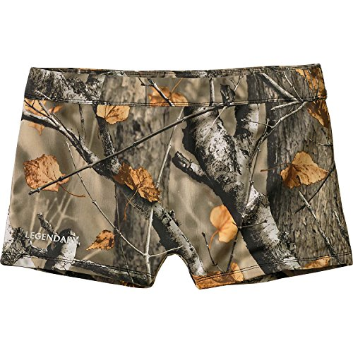Ladies Swimsuit Bottom Boy Shorts Big Game Field Camo Large ()