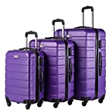 Coolife Luggage 3 Piece Set Spinner Trolley Suitcase Hard Shell Lightweight...