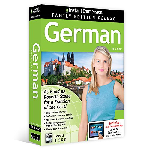 Learn German: Instant Immersion Family Edition Language Software Set  - 2016 - Instant Mp3