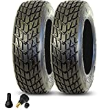 Goldspeed Set of 165/70-10 Flat Track | ATV Sport Race Tires, Red Compound, with Valve Stems …