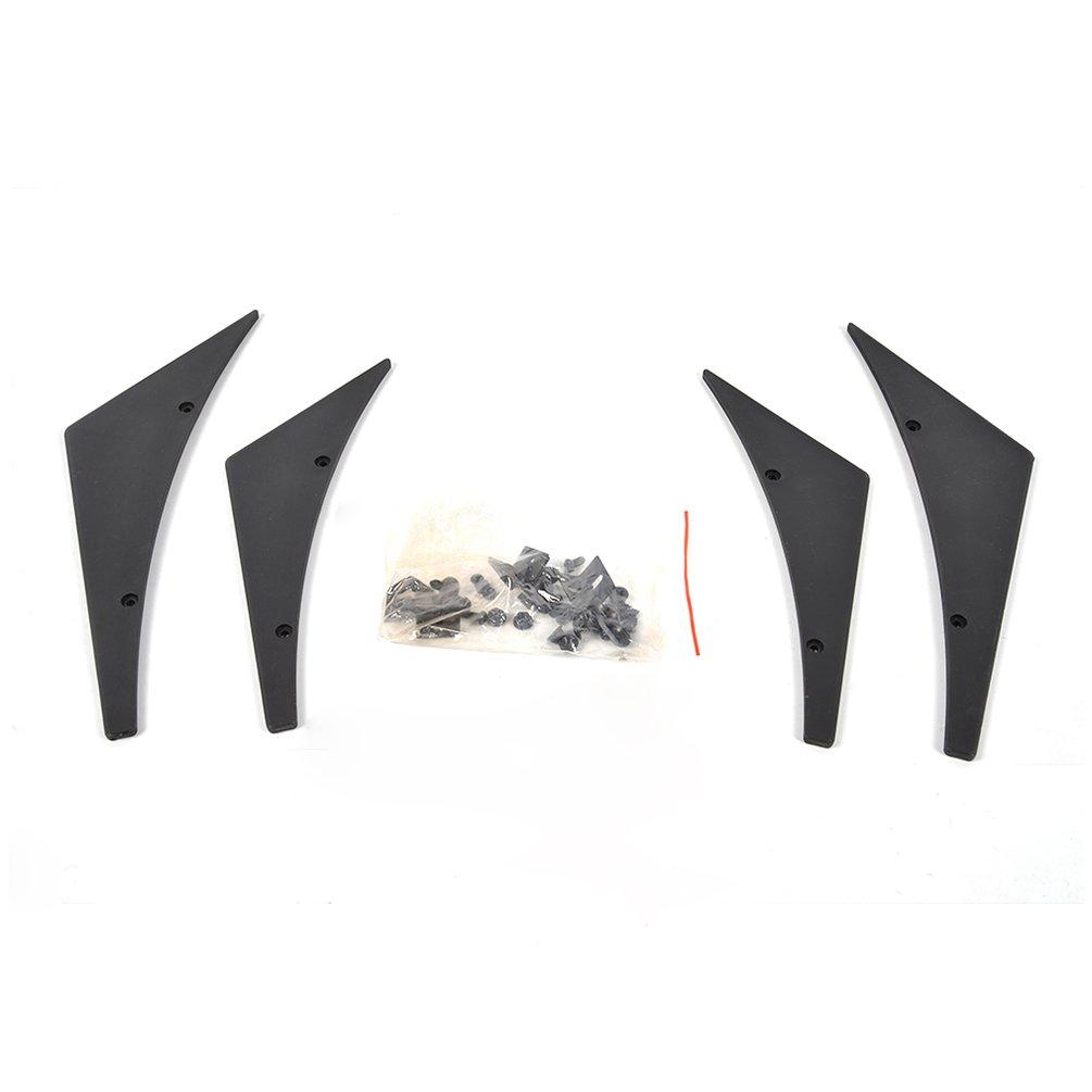 Jcsportline Universal Fit Front Bumper Lip Splitter Fins Body Spoiler Canards Valence Chin